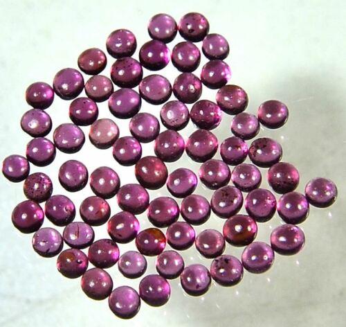 100/%Natural Rhodolite Garnet Round 2.5mm 3mm Cabochon Lot Gemstone Free Shipping