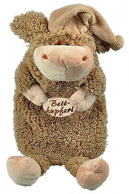 Waermflasche Wollschaefchen Kuscheltier Schaf braun Stick Betthupferl 39308