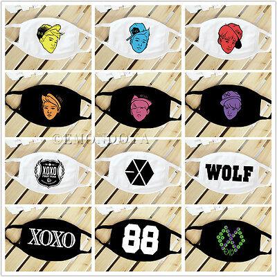 EXO Cotton Facial Mask Cartoon Member XOXO Face Mask Wolf 88 Mouth Muffle K-POP