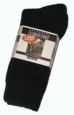 Clothing, Shoes, Accessories 12 Pairs Aust 6-11 Navy Cotton Cushion Foot Work Socks