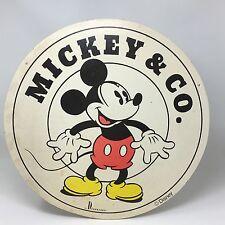 Vtg MICKEY MOUSE Walt Disney Round Sign Donnkenny New York Rare Store Display