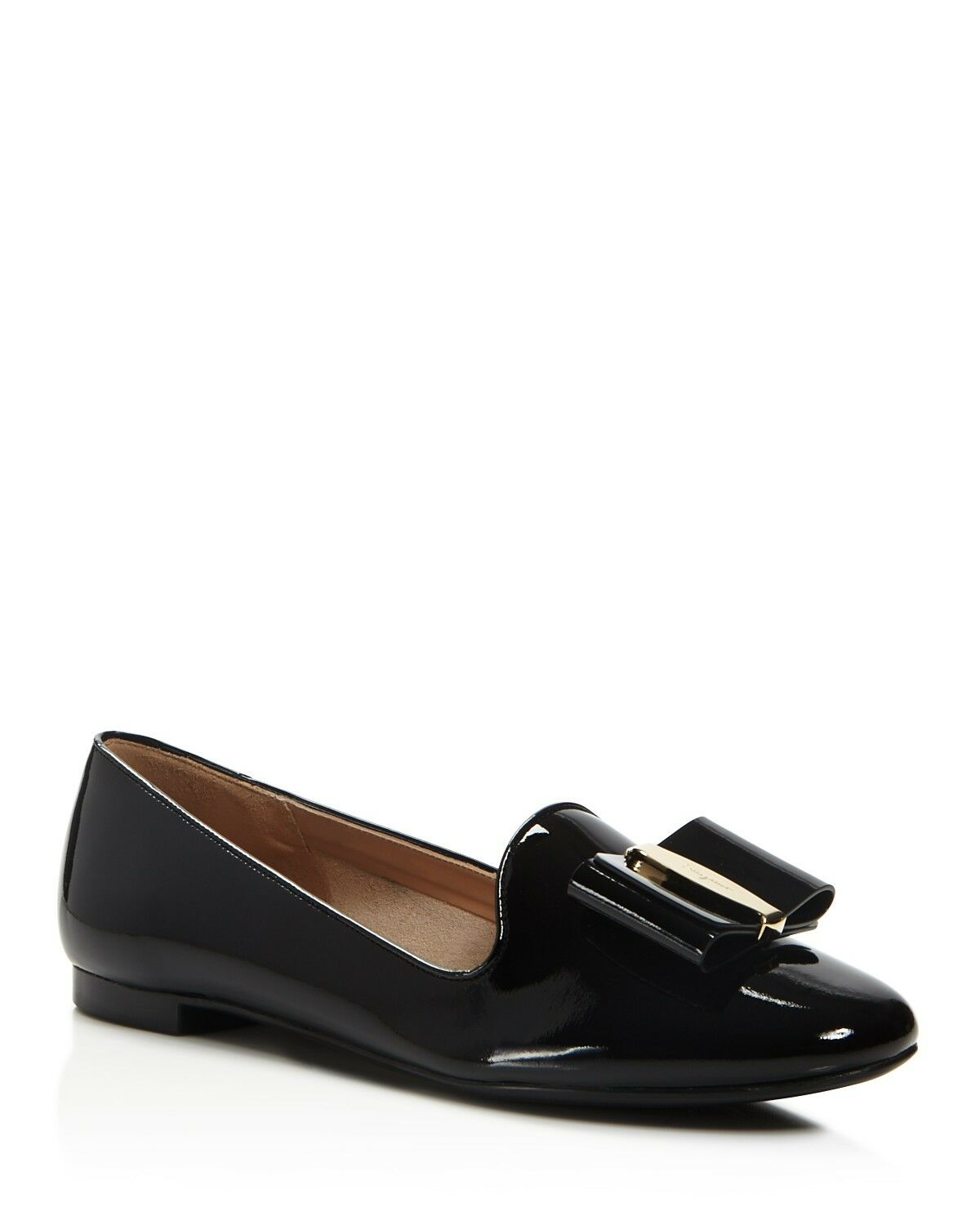 NIB NEW Salvatore Ferragamo Elisabel black blue blue black patent flats shoes 6 7 8.5 9 9.5 52229b