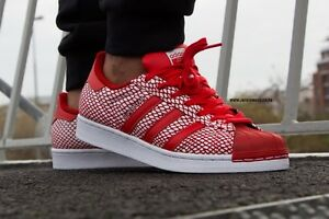 ADIDAS SUPERSTAR SNAKE PACK RED WHITE SHOES S82730 MENS size 13US ... 13a559689b