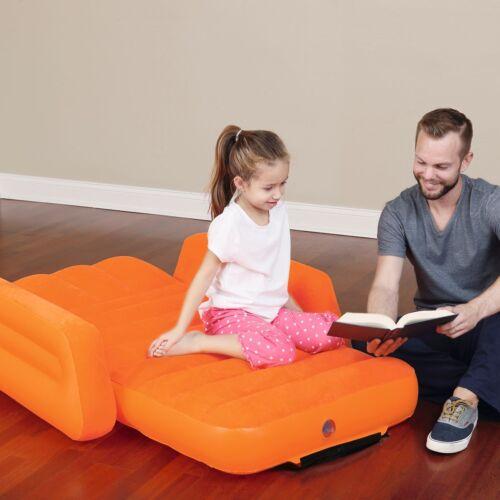 BESTWAY Kinder Luftbett mit Armlehne Gäste Reisebett Bett Camping Luftmatratze