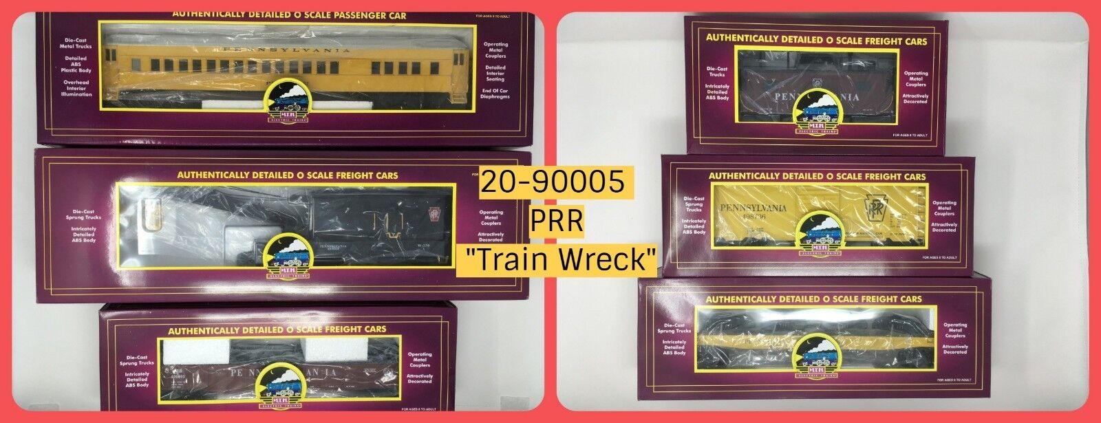 MTH rail king 20-90005 grado tren naufragio 6-Car Conjunto de carga o calibre