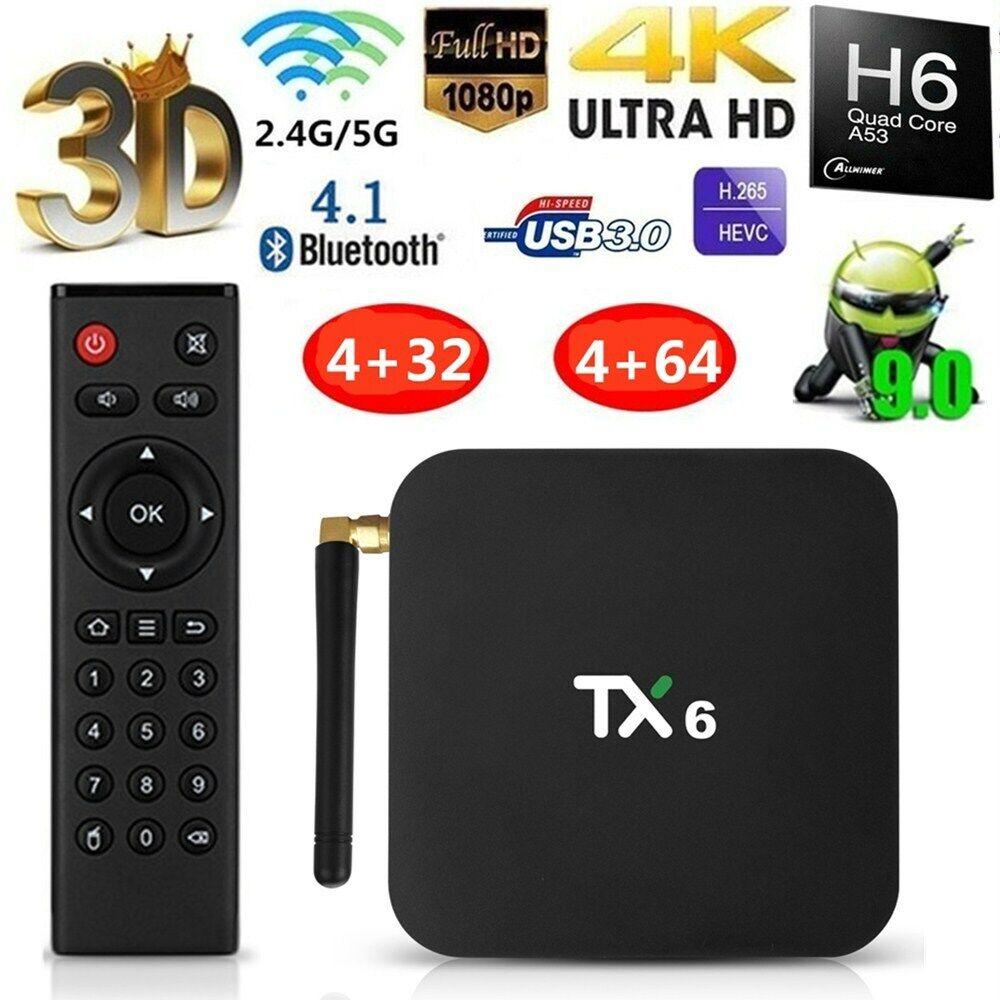 TX6 TV Box 4GB + 32GB Ultra HD Tanix Blutooth BT5.0 Wifi 2.4
