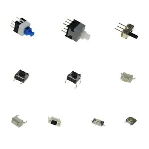 100-pcs-10-Kinds-of-tactile-switches-push-button-latch-SMD-slide-switch-kit