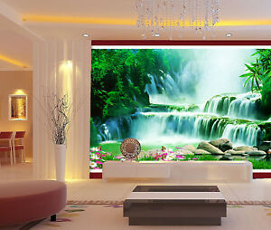 3D-Plant-Stone-River-7-Wall-Paper-Murals-Wall-Print-Wall-Wallpaper-Mural-AU-Kyra