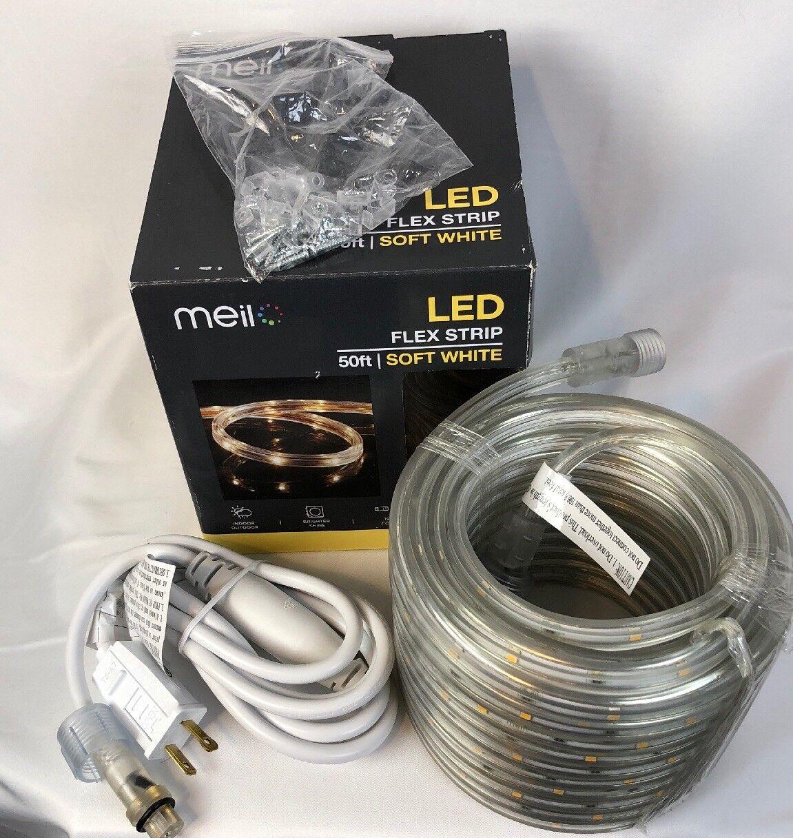 uk availability a4cd7 aa344 Meilo 50 ft. Soft White Integrated LED Flex Strip Light