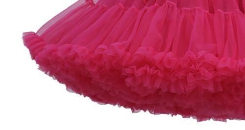 Solid Color Fluffy Party Adult Novelty Dress Women Tulle Tutu Dance Ballet Skirt