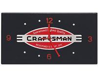 Craftsman 15 Heritage Garage Clock Solid Sheet Metal Black Red Work Shop Wall