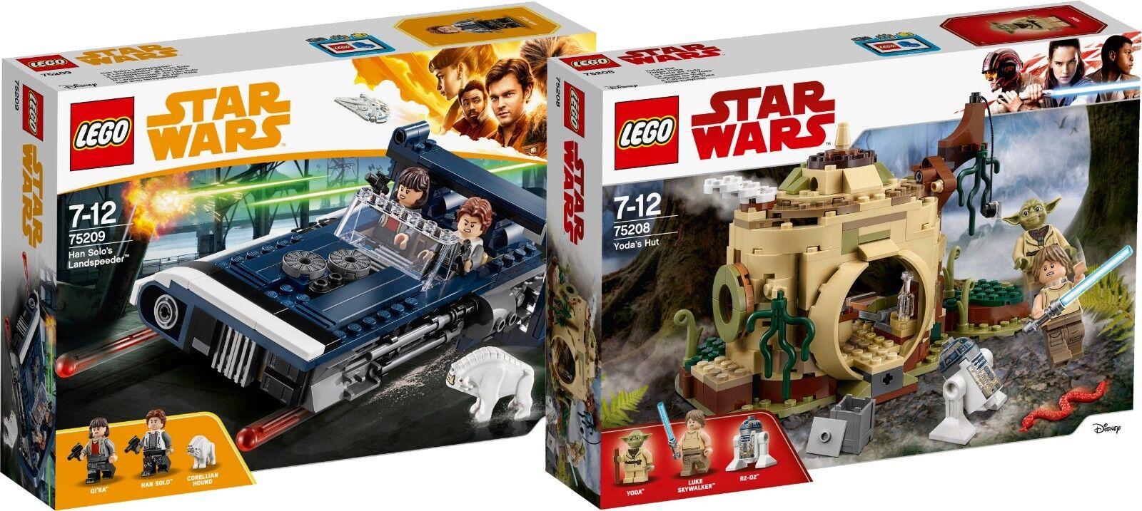 Lego Estrella Wars han solo's landspeeder 75209 y 75208 Yoda cabaña n5 18