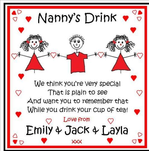 ANY Name Personalised Drink Coaster Birthday Fathers Day Mothers Day Gift