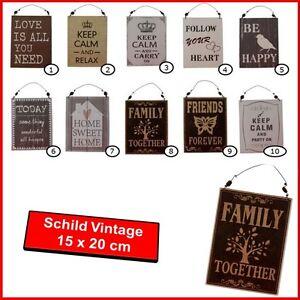 schild vintage deko bild 20 x 15 cm k che wohnzimmer bar. Black Bedroom Furniture Sets. Home Design Ideas