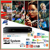 TivuSat Telesystem TS-9011 HD Decoder and Smartcard* – Watch Italian TV