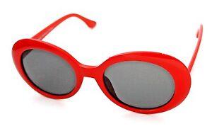 c296f687576 Image is loading OVAL-Cat-Eye-Sunglasses-Vintage-Retro-KURT-COBAIN-