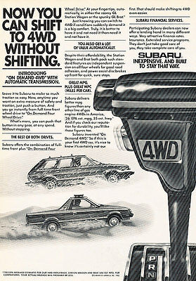 Classic Vintage Advertisement Ad PE91 1974 Subaru 4-door Sedan