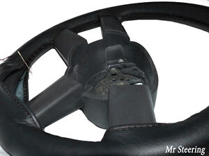 couvre volant renault master 100 cuir noir v ritable ebay. Black Bedroom Furniture Sets. Home Design Ideas