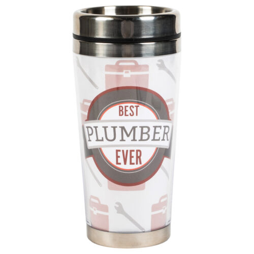 Best Plumber Ever 16 ounce Stainless Steel Travel Mug with Lid