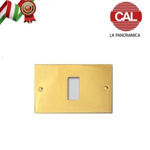 PLACCA CAL 1 FORO IN OTTONE LUCIDO PER SERIE BTICINO MAGIC ECO1