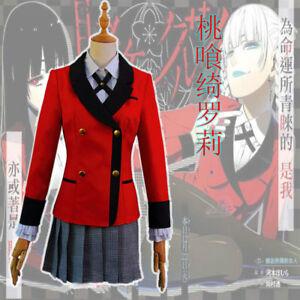 Kakegurui Jabami Yumeko Meari Kirari Suzui Ryota Cosplay Costume School Uniform