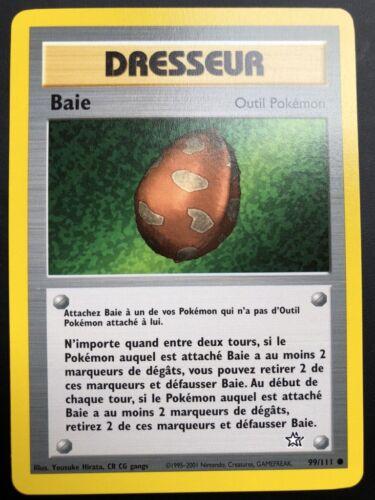 Carte Pokemon BAIE 99//111 Commune Néo Génésis Wizard Française NEUF