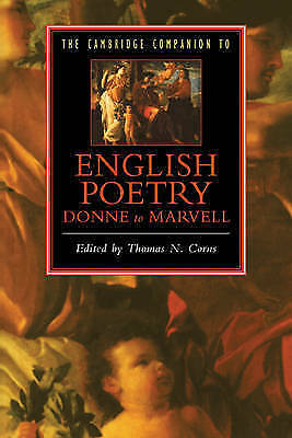 1 of 1 - The Cambridge Companion to English Poetry, Donne to Marvell by Cambridge...