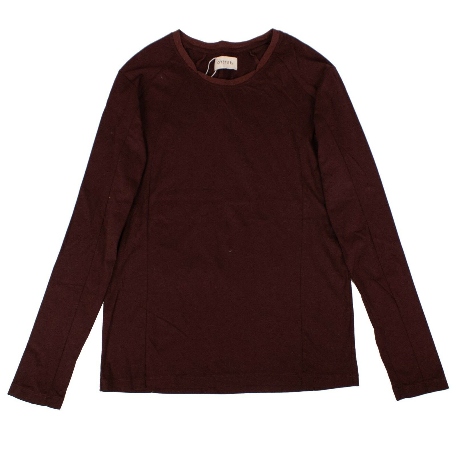 NWT OYSTER HOLDINGS Maroon BNC Long Sleeve Knit Shirt Size M