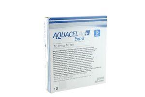 Aquacel Ag Extra Silver Hydrofiber Wound Dressing 10cm X 10cm Pack