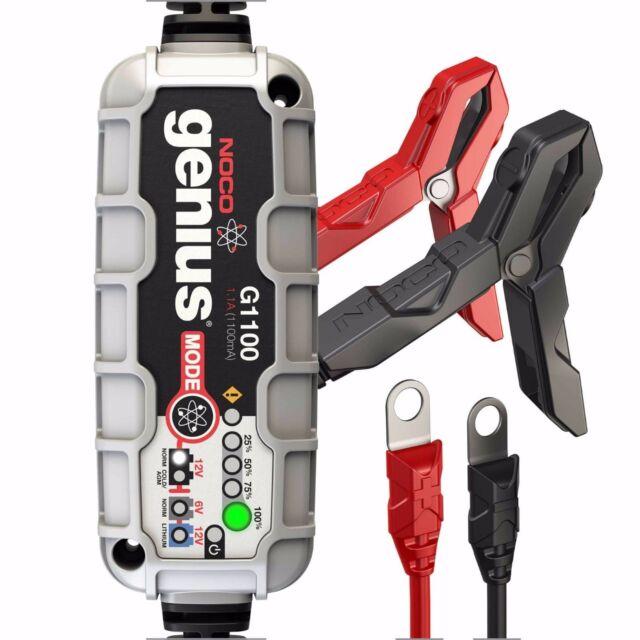NOCO Genius G1100UK 6V/12V 1.1A UltraSafe Smart Battery Charger