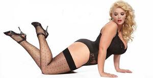 plus size hold-ups xl-4xl stockings sheer ladies 15 denier hosiery