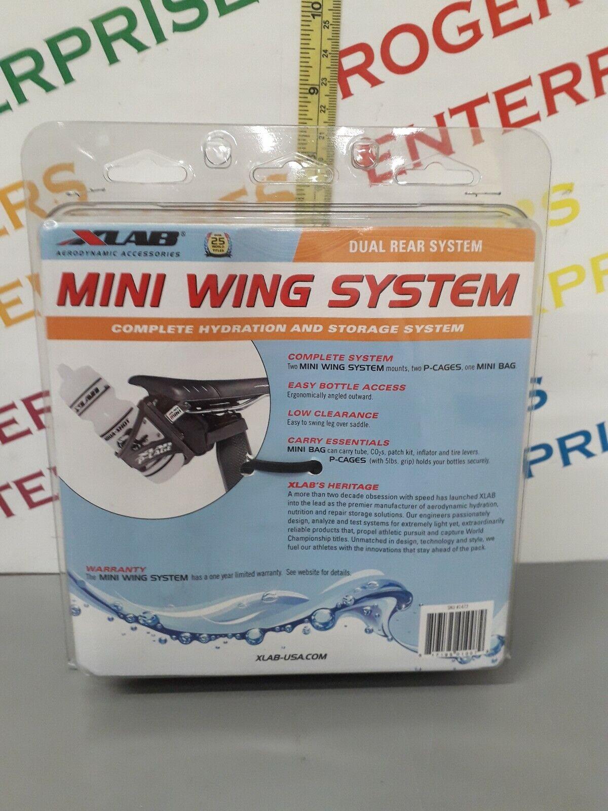 XLAB Mini Wing Kit Hydration & Storage System 2 Bottle P-Cages & mini bag - NEW