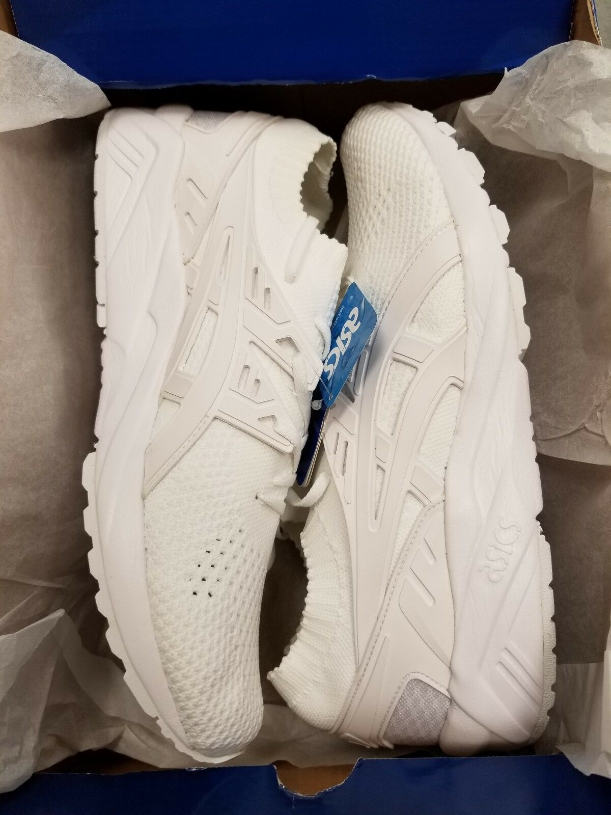 ASICS Gel Kayano Trainer Knit Uomo Taglia: 11.5M Color: White / White RETURNED!