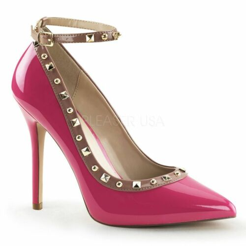Abendschuh Pleaser Sexy 28 Amuse Party Nieten Pumps Hidden plateau Beige Pink ZZ7w8xvq