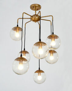 lucia lighting pendant ceiling light mid century. Image Is Loading Mid-Century-Modern-Handcrafted-Brass-Bubbles-Chandelier- Ceiling- Lucia Lighting Pendant Ceiling Light Mid Century D