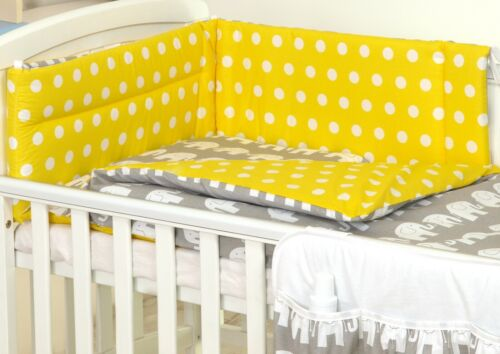 BUMPER+COVERS+DUVET+MORE. NURSERY BABY BEDDING SET COT 120X60-COT BED140X70