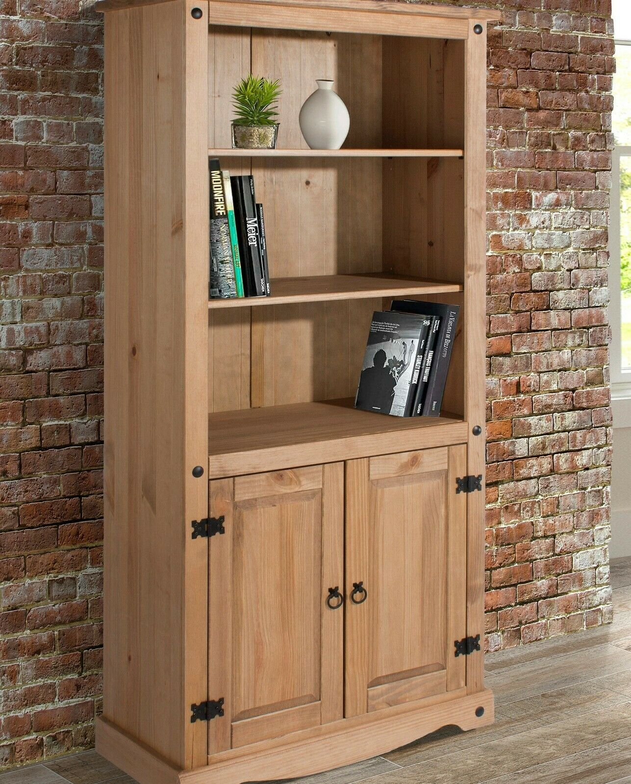 Large Kitchen Pantry 2 Doors Cupboard Wooden Storage Cabinet Rustic Tall Unit For Sale Online Ebay