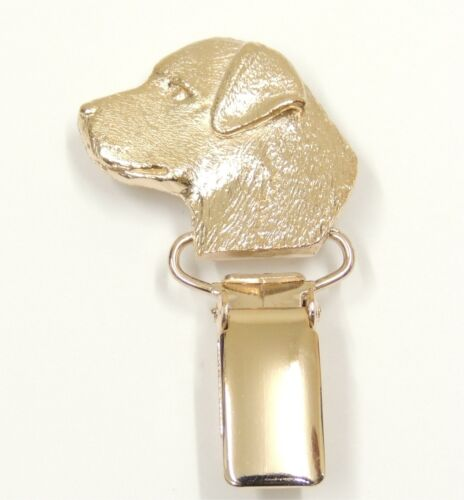 Dog Show Ring Clip//Number Holder In Silver or Gold Labrador Head