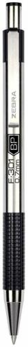 Zebra Ballpoint Stainless Steel Retractable Pen Fine Point 0.7mm Black Ink