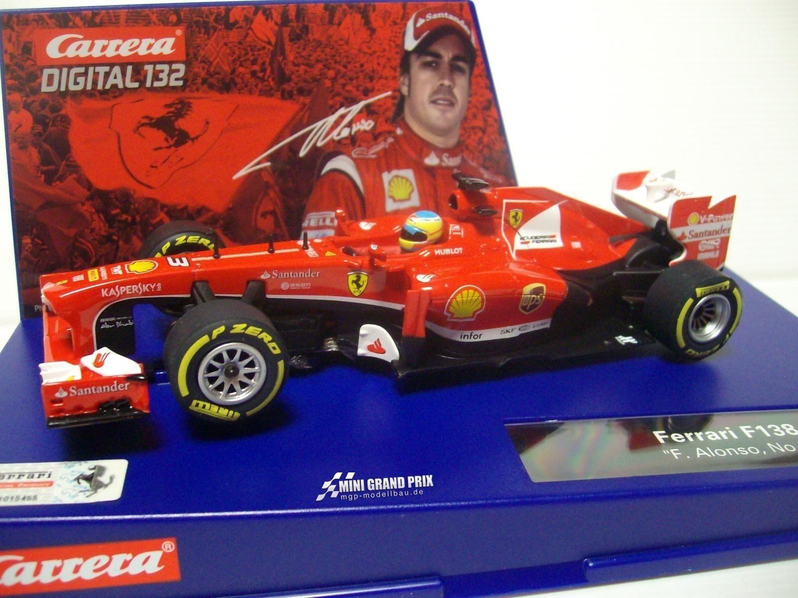 Carrera Digital 132 Ferrari F138 for Alonso, no. 3 30695