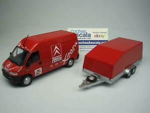 Altaya-VEHICULES-D-039-ASSISTANCE-RALLYE-Citroen-Sport-Jumper-WRC-trailer-IXO-1-43