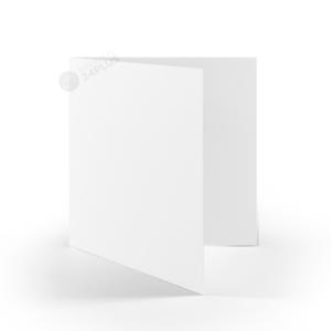 25x Klappkarten quadratisch 145 x 145 mm // 14,5 x 14,5 cm Weiß