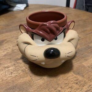 Vintage Taz Tasmanian Devil 1992 Mug Warner Bros Looney Tunes Plastic Cup NEW!