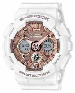 l'atteggiamento migliore 93908 95007 Dettagli su Casio | G-Shock Bianco E Oro Rosa | GMA-S120MF-7A2ER Orologi  PVC €145.00