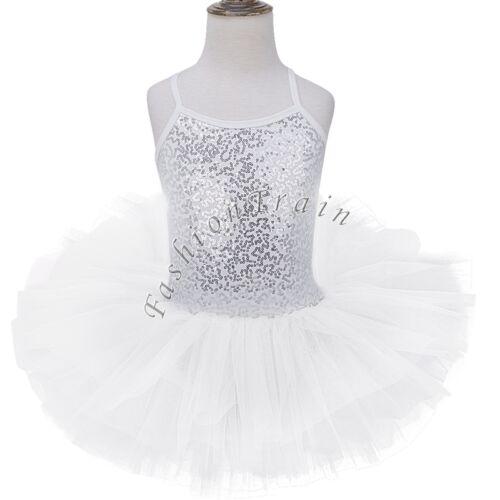 UK/_Kids Girls Leotard Dress Ballet Dance Gymnastic Tutu Skirt Dancewear Costume