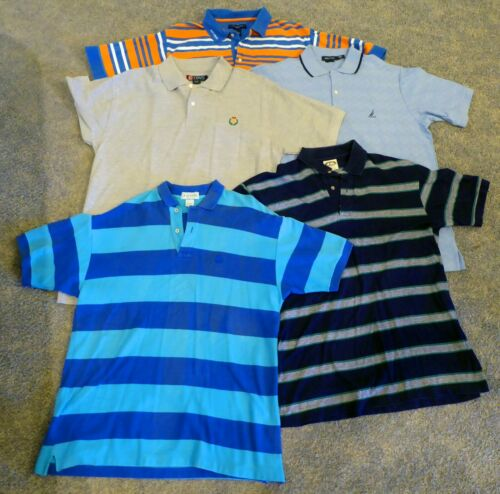 Large Men's Polo Shirts - Lot of 9