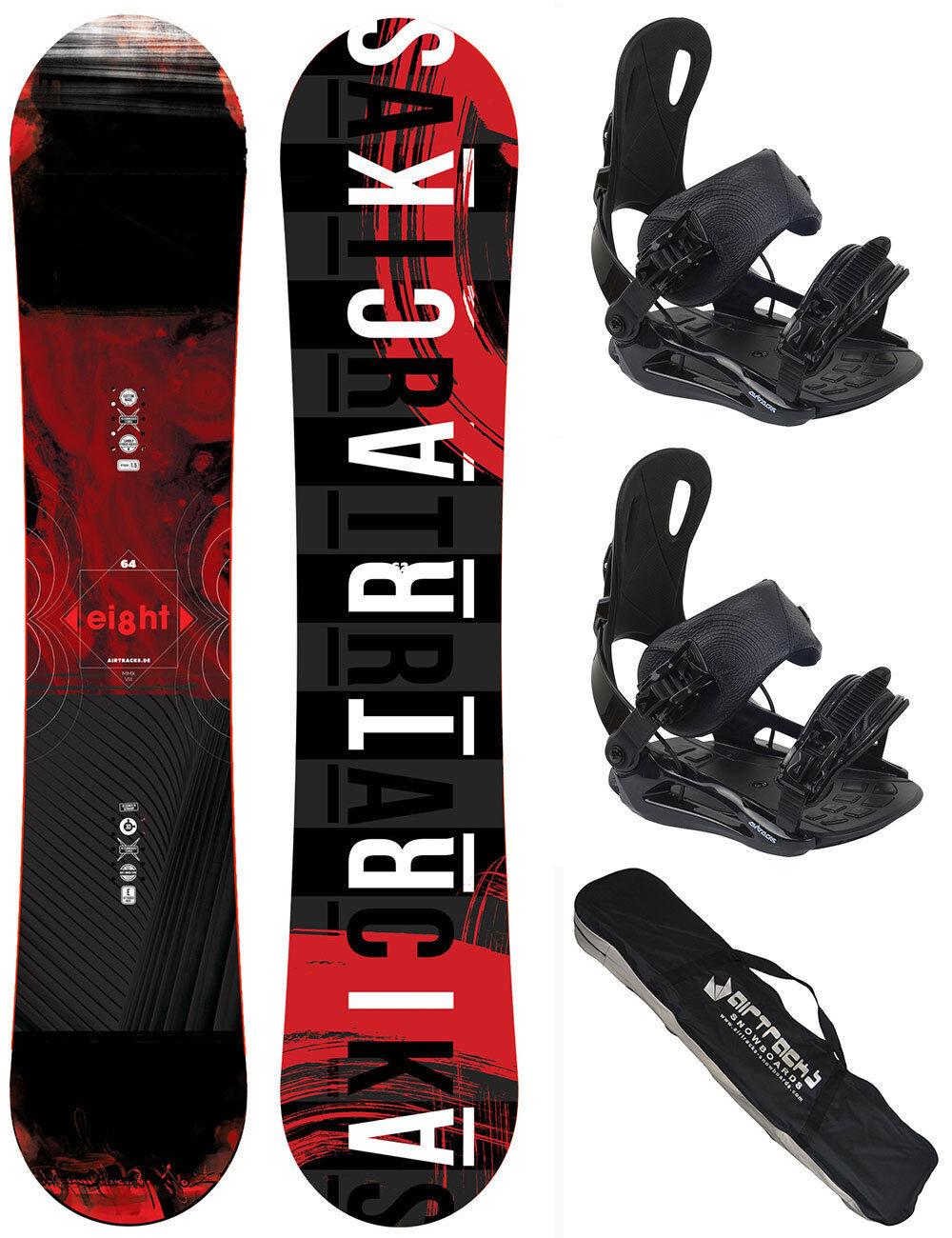 Snowboard Set AIRTRACKS Eight Rocker+Bindung Star oder Master+Bag 150 155 160 cm