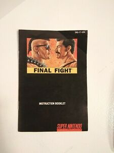 FINAL FIGHT Super Nintendo SNES Instruction Manual Booklet only. VERY RARE