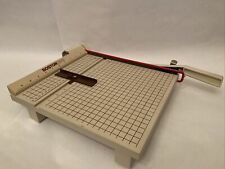Boston 2612 Paper Cutter 12 Trimmer Heavy Duty Guillotine Wood Metal With Guide