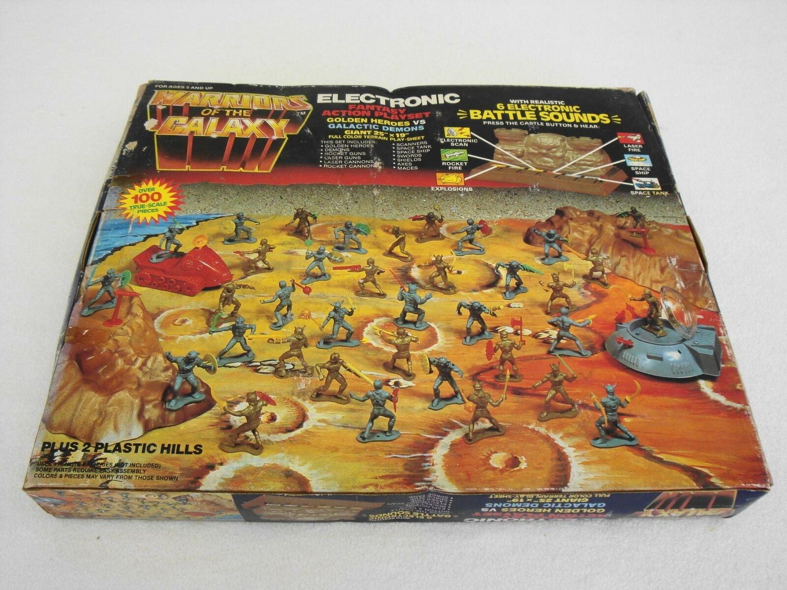 RARE årgång 1983 Warriors of the Galaxy fantasi Action Electronic spela Set NY